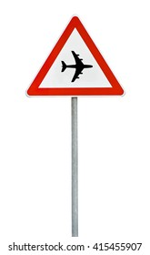 Triangle on rod  road sign plane airport