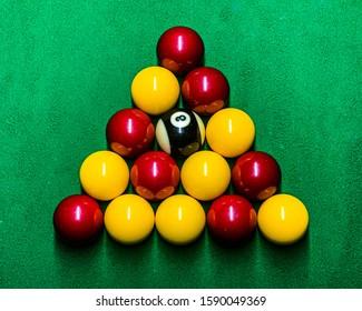 Triangle Rack of English pool balls