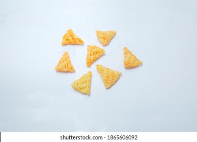 Triangle Shape Fry Crunchy Snack Stock Photo