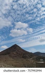 A triangle shaped mountain at Almeria seaside ,Spain