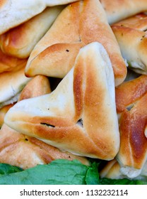 Triangle shaped Spinach Pie