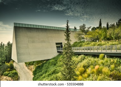 The triangle tunnel in the museum of holocaust in Jerusalem.