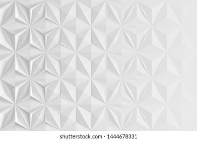 Triangular abstract geometric gray background of triangular volumetric elements of different random size. 3D illustration