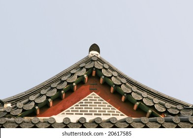 Triangular Asian Palace Roof(Release Information: Editorial Use Only. Use of this image in advertising or for promotional purposes is prohibited.)