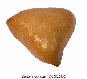 Triangular pastry of dough slice of bread