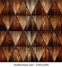 Triangular style - Abstract decorative panels - Imaginary design - 3D wallpaper - Geometric shapes - repeating pattern - seamless background - wood texture