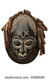 Tribal African wooden mask, used in traditional ceremonies. South African