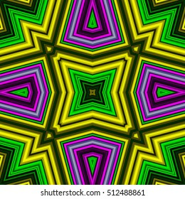 Tribal ethnic seamless pattern with ornament, geometric repeating texture.
