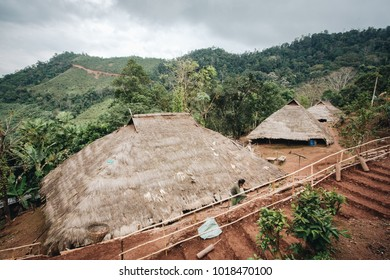 Tribal House in the northern of thailand