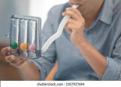 Triballs Incentive Spirometer Threeflow Respiratory Exerciser for help perform normal deep breathing exercises.