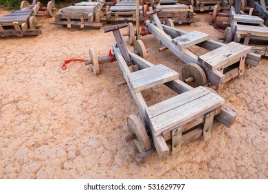 Tribal's wood sleigh for tourist in Northern of Thailand
