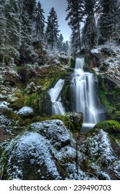 Triberg Waterfalls in Triberg, The Black Forest, Baden Wurttemberg, Germany in Autumn