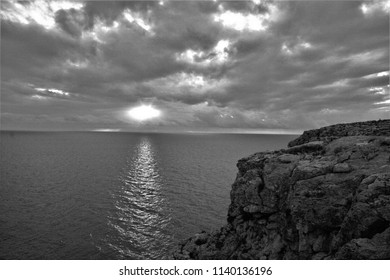 tribute to Ansel Adams,artistic black and white photography of sunset, landscapes of Formentera,
