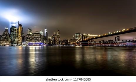 Tribute to lights Manhattan NYC USA
