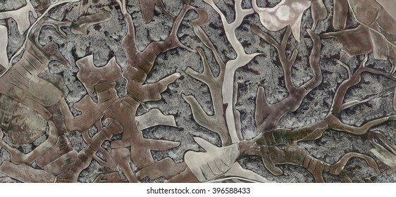 montería,allegory, tribute to Matisse,abstract photography of the Spain fields from the air, aerial view, representation of human labor camps, abstract, cubism, abstract naturalism,