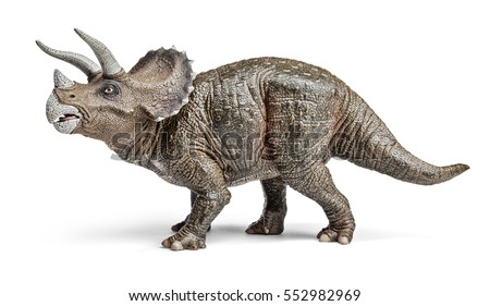 triceratops dinosaurs toy isolated on white stock photo edit now