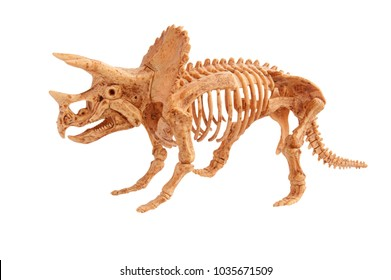 triceratops toy isolated on white
