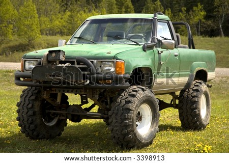 tricked out 4 x 4 lift kit large stock photo edit now 3398913