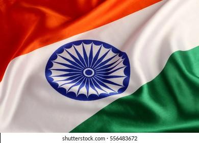 Tricolor Indian National Flag - Closeup