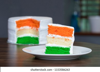 Tri-coloured Layer Cake Independence Day Special - 15th August India