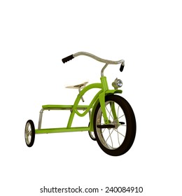 tricycle isolated on white background