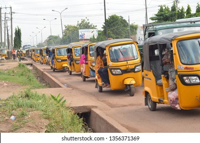 Tricycle :one of the lucrative transport business in Nigeria expecially Lagos . April 1st 2019, Lagos Nigeria