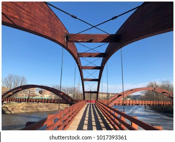 The Tridge, Midland Michigan - This is one bridge that connects to three different part of city.