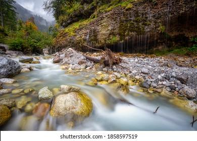 The Triefen Waterfall in the region Maria Alm am Steinernen Meer in Austria - Shutterstock ID 1858597519