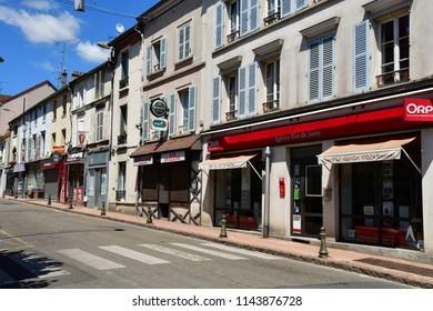 Triel sur Seine, France - june 6 2018 : the picturesque city in summer