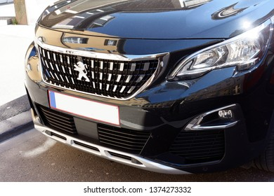 Trier, Germany - April 18, 2019: Peugeot is a French automotive manufacturer. Peugeot has received many international awards for its vehicles, including five European Car of the Year awards.