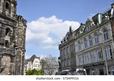 Trier, Germany - August 02,2012:Hauptmarkt Square, also known as the Main or Market Square,Trier, Germany