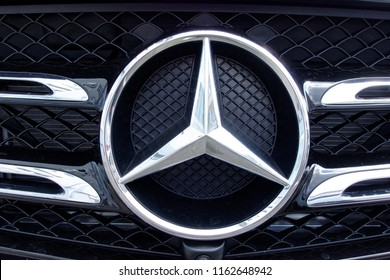 Trier, Germany - August 23, 2018: Mercedes-Benz is a global automobile marque and a division of the German company Daimler AG. The brand is known for luxury vehicles, buses, coaches, and lorries.
