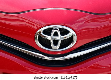 Trier, Germany - August 23, 2018: Toyota Motor Corporation, usually shortened to Toyota, is a Japanese multinational automotive manufacturer headquartered in Toyota, Aichi, Japan.