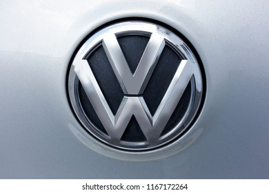 Trier, Germany - August 23, 2018: Volkswagen Group, is a German multinational automotive manufacturing company headquartered in Wolfsburg, Lower Saxony, Germany.