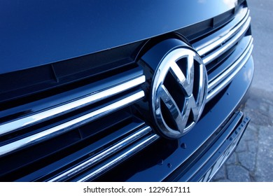 Trier, Germany - November 13, 2018: Volkswagen, shortened to VW, is a German automaker.