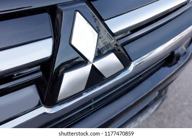 Trier, Germany - September 10, 2018: Mitsubishi Motors Corporation is a Japanese multinational automotive manufacturer headquartered in Minato, Tokyo, Japan.