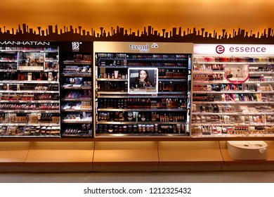 Trier, Germany - September 10, 2018: dm-drogerie markt is a chain of retail stores headquartered in Karlsruhe, Germany, that sells cosmetics, health care items, household products and health food.
