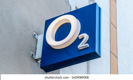 TRIER, GERMANY - SEPTEMBER 13, 2019: 2 shop in TRIER. O2 is a European telecommunications company, specialized in mobile telephony owned by Telefonica
