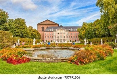 Trier, Rhineland-Palatinate, Germany - September 29, 2017: The Palace of Electors is one of the most significant monuments of the Baroque Trier.