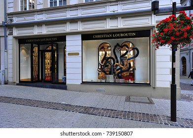TRIER,GERMANY-AUG 09:  HRISTIAN LOUBOUTIN fashion store on August 09,2017 in Trier,Germany.