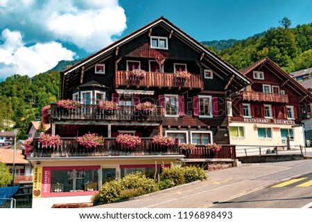 Triesenberg, Liechtenstein, 20th August 2018:- A view of Triesenberg in central Liechtenstein. Triesenberg is the largest municipality in Liechtenstein at 30 square kilometres.