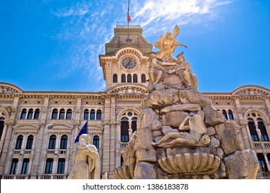 Trieste city hall on Piazza Unita d Italia square view, Friuli Venezia Giulia region of Italy