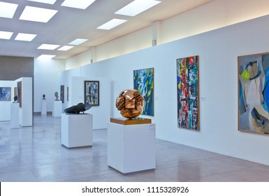Trieste, Italy - August 9, 2010:  The section of modern art in the Rivoltella Museum