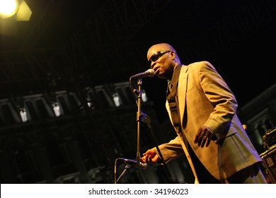 """TRIESTE, ITALY - JULY 24: Maceo Parker at """"Trieste Loves Jazz 2009"""" at Piazza Unit  d'Italia July 24, 2009 in Trieste, Italy."""