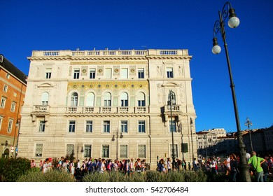 TRIESTE, ITALY - JUNE 20: Unidentified people take part in The Color Run on June 20, 2015 in Trieste, Italy. Trieste is the capital of the autonomous region Friuli-Venezia Giulia