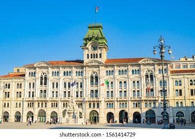 Trieste, Italy - March 19, 2018 : View of trieste City Hall building