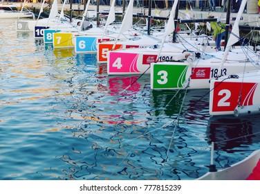 Trieste, Italy - September 2017 - Barcolana Sailboat Race