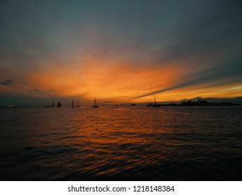 Trieste,italy. Barcolana sunset.