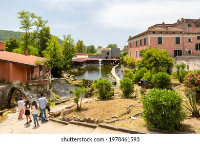 TRIFLISCO, ITALY - MAY 23, 2021 - The small village of Triflisco, in the municipality of Bellona, is famous for its thermal waters
