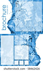 tri-fold brochure template with water splash (8.5x11 - 2-sided)